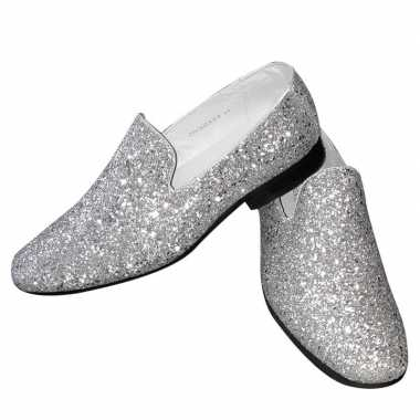Originele toppers zilveren glitter pailletten disco instap schoenen h