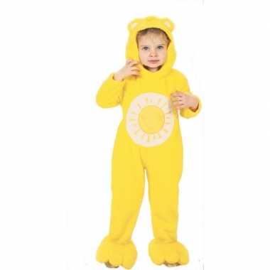 Originele troetelberen carnavalskleding geel kinderen