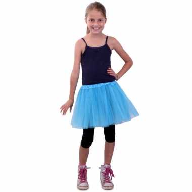Originele tule rokje meisjes blauw carnavalskleding