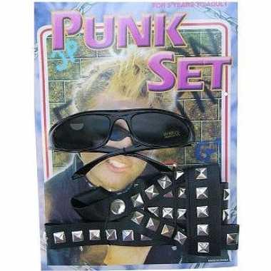 Originele verkleed als punker setje carnavalskleding