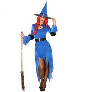 Originele verkleed carnavalskleding blauwe heks