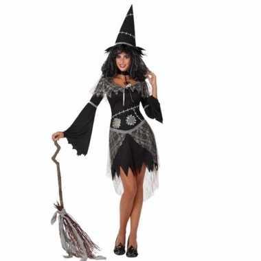 Originele verkleed carnavalskleding zwarte heks