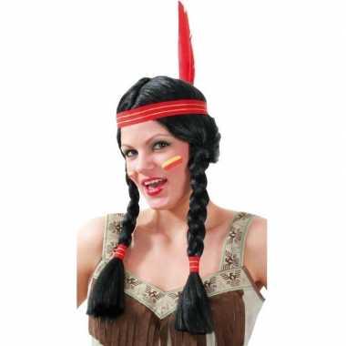Originele verkleed indianen pruik dames carnavalskleding