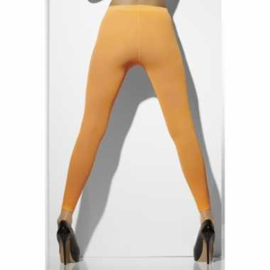 Originele verkleed leggings dames oranje carnavalskleding