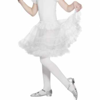 Originele verkleed petticoat wit kinderen carnavalskleding