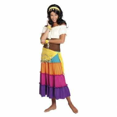Originele verkleed set harem danseres geel carnavalskleding