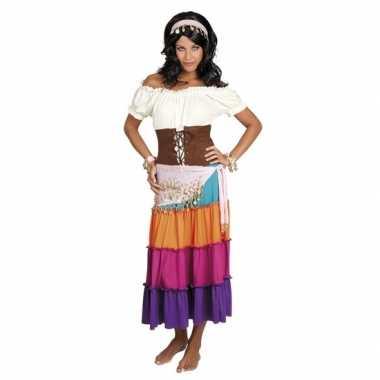 Originele verkleed set harem danseres lichtroze carnavalskleding