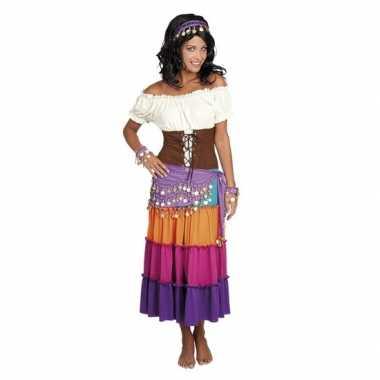 Originele verkleed set harem danseres paars carnavalskleding