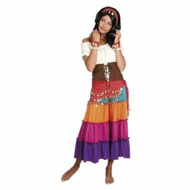 Originele verkleed set harem danseres rood carnavalskleding