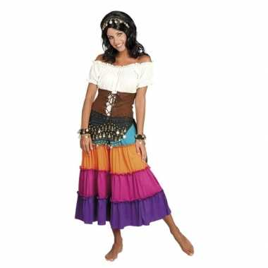 Originele verkleed set harem danseres zwart carnavalskleding