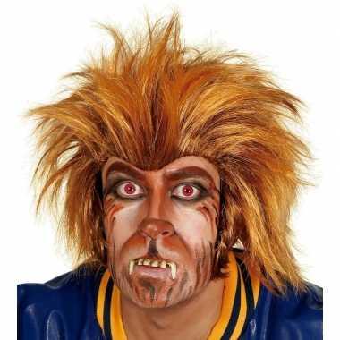 Originele verkleed weerwolf pruik carnavalskleding