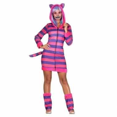 Originele verkleedset kat/poes gestreept dames carnavalskleding