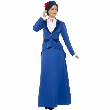 Originele victoriaanse kinderjuffrouw carnavalskleding dames