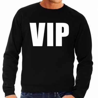 Originele vip tekst sweater / trui zwart heren carnavalskleding