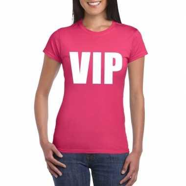 Originele vip tekst t shirt roze dames carnavalskleding