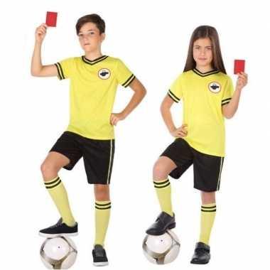 Originele voetbal scheidsrechter verkleed carnavalskleding kinderen