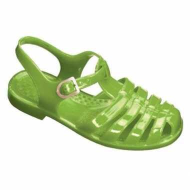 Originele waterschoenen kinderen groen maat / carnavalskleding