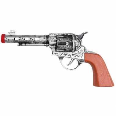 Originele western revolver/pistool zilver carnavalskleding