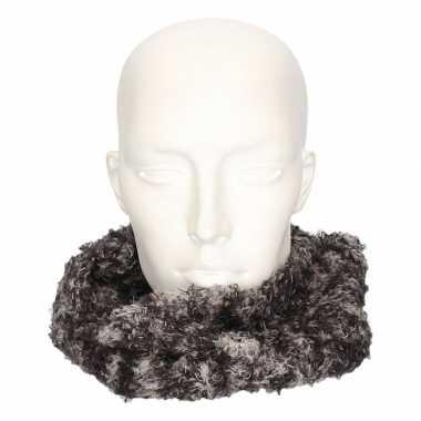 Originele winter zachte sjaals grijs/luipaard volwassenen carnavalskl
