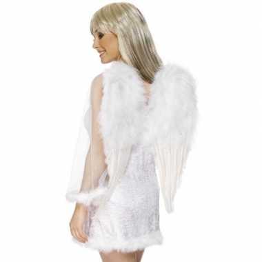 Originele witte engelenvleugels dames carnavalskleding