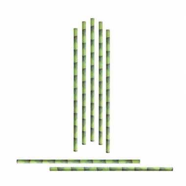 Originele x eco rietjes bamboe bedrukking carnavalskleding