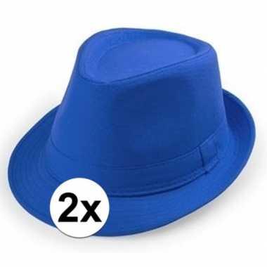 Originele x goedkope blauwe verkleed hoedjes volwassenen carnavalskle