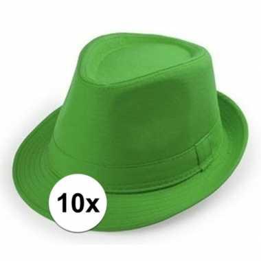 Originele x goedkope groene verkleed hoedjes volwassenen carnavalskle