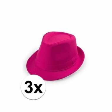 Originele x goedkope roze verkleed hoedjes toppers carnavalskleding 10109529