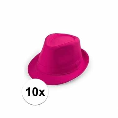 Originele x goedkope roze verkleed hoedjes toppers carnavalskleding 10109533