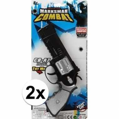 Originele x stuks politie/militair speelgoed pistolen carnavalskledin