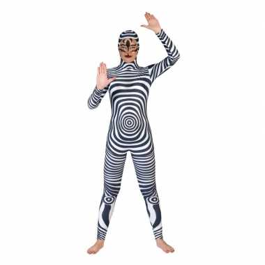 Originele zebra catsuit/carnavalskleding volwassenen