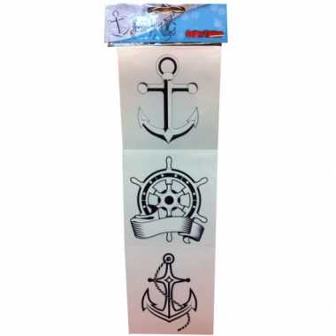 Originele zee matroos tattoos carnavalskleding
