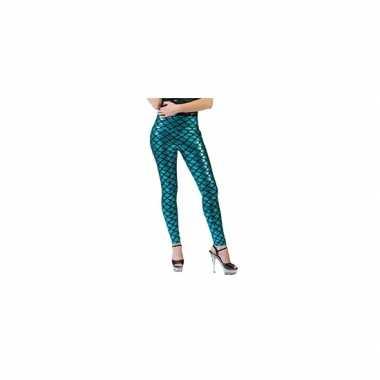 Originele zeemeermin legging blauw carnavalskleding