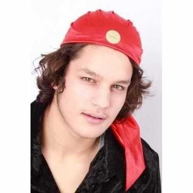 Originele zigeuner hoedje rood volwassenen carnavalskleding