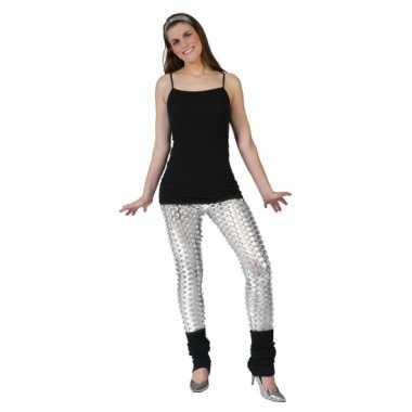 Originele zilveren legging puntige gaten carnavalskleding