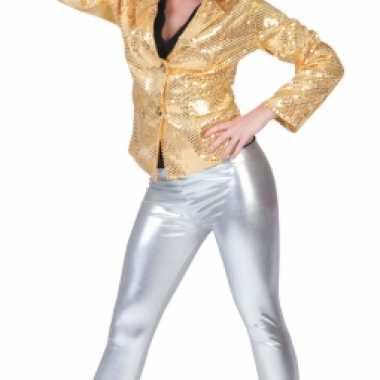 Originele zilveren leggings carnavalskleding