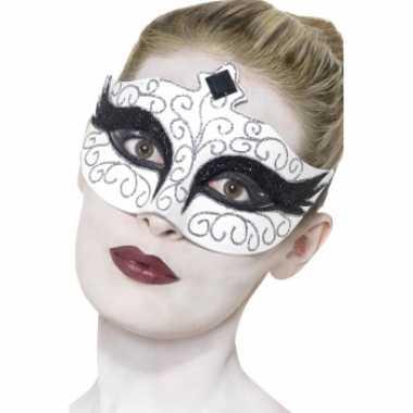 Originele zwaan oogmasker carnavalskleding