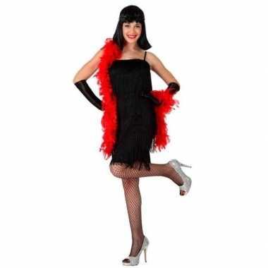 Originele zwart charleston flapper verkleed carnavalskleding dames