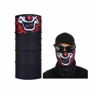 Originele zwart clown biker masker volwassennen carnavalskleding