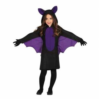 Originele zwart paars vleermuis carnavalskleding meisjes