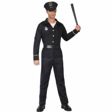 Originele zwart politie verkleed carnavalskleding/carnavalskleding vo