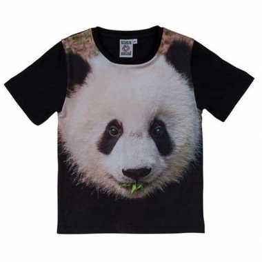 Originele zwart t shirt panda beer kinderen carnavalskleding