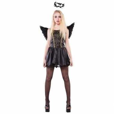 Originele zwarte engel dames carnavalskleding