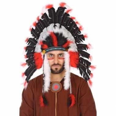 Originele zwarte indianen tooi heren carnavalskleding