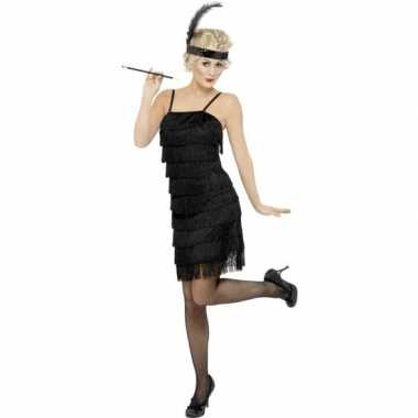 Originele zwarte jaren flapper carnavalskleding dames