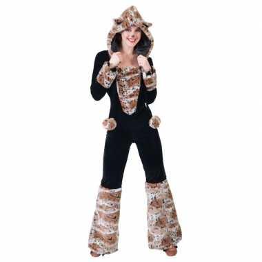 Originele zwarte kat/panter verkleed carnavalskleding dames