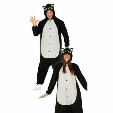 Originele zwarte kat/poes dieren verkleed carnavalskleding heren