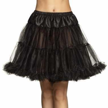 Originele zwarte petticoat dames carnavalskleding