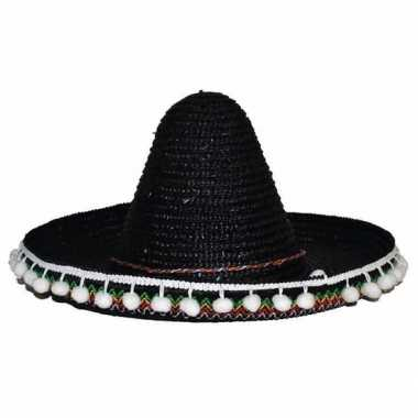 Originele zwarte sombrero kinderen carnavalskleding