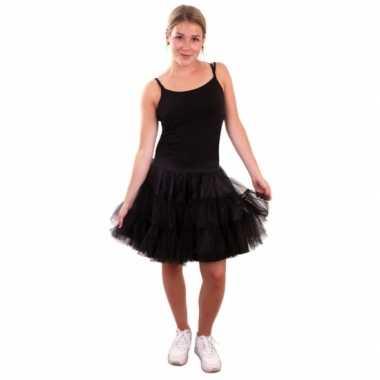 Originele zwarte tutu dames carnavalskleding